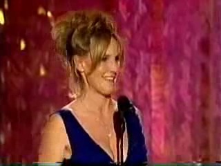 Erin Brockovich introducing the Erin Brockovich clip @ Golden Globes 2001